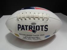 Signed Patriots Football, Rob Gronkowski