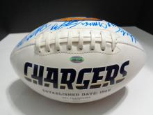 Signed Football, 20+ San Diego Chargers team members