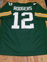 Signed Green Bay Packers Jersey, Aaron Rodgers, #12
