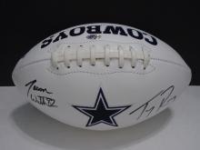 Signed Cowboys Football, Tony Romo, Jason Witten