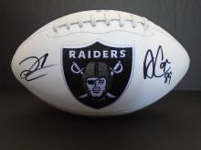 Signed Raiders Football, Carr/ Cooper
