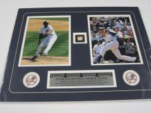 2011 New York Yankees & Twins Matted Piece Of Game Used Baseball. Comes with Certified Coa
