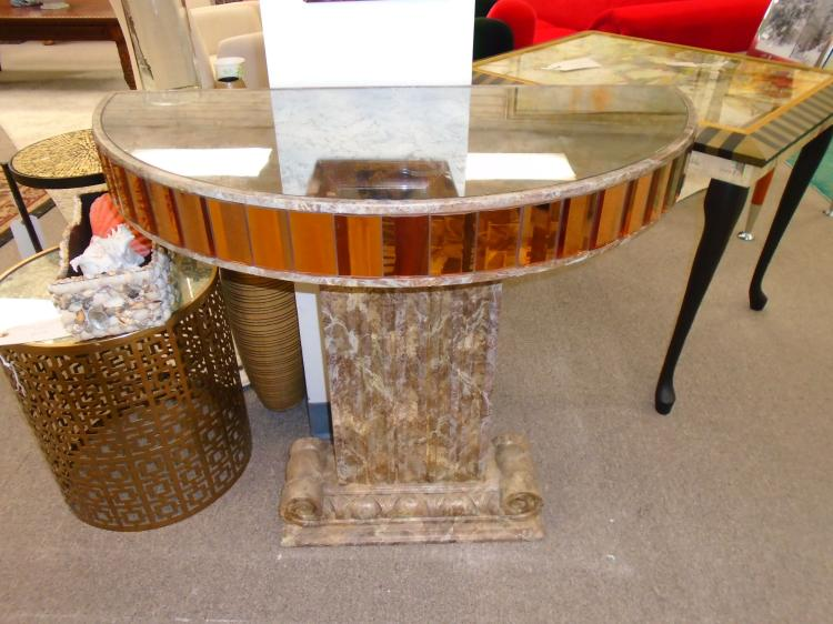 Demi loom mirrored entrance table with matching mirror for 13 american table boca raton fl