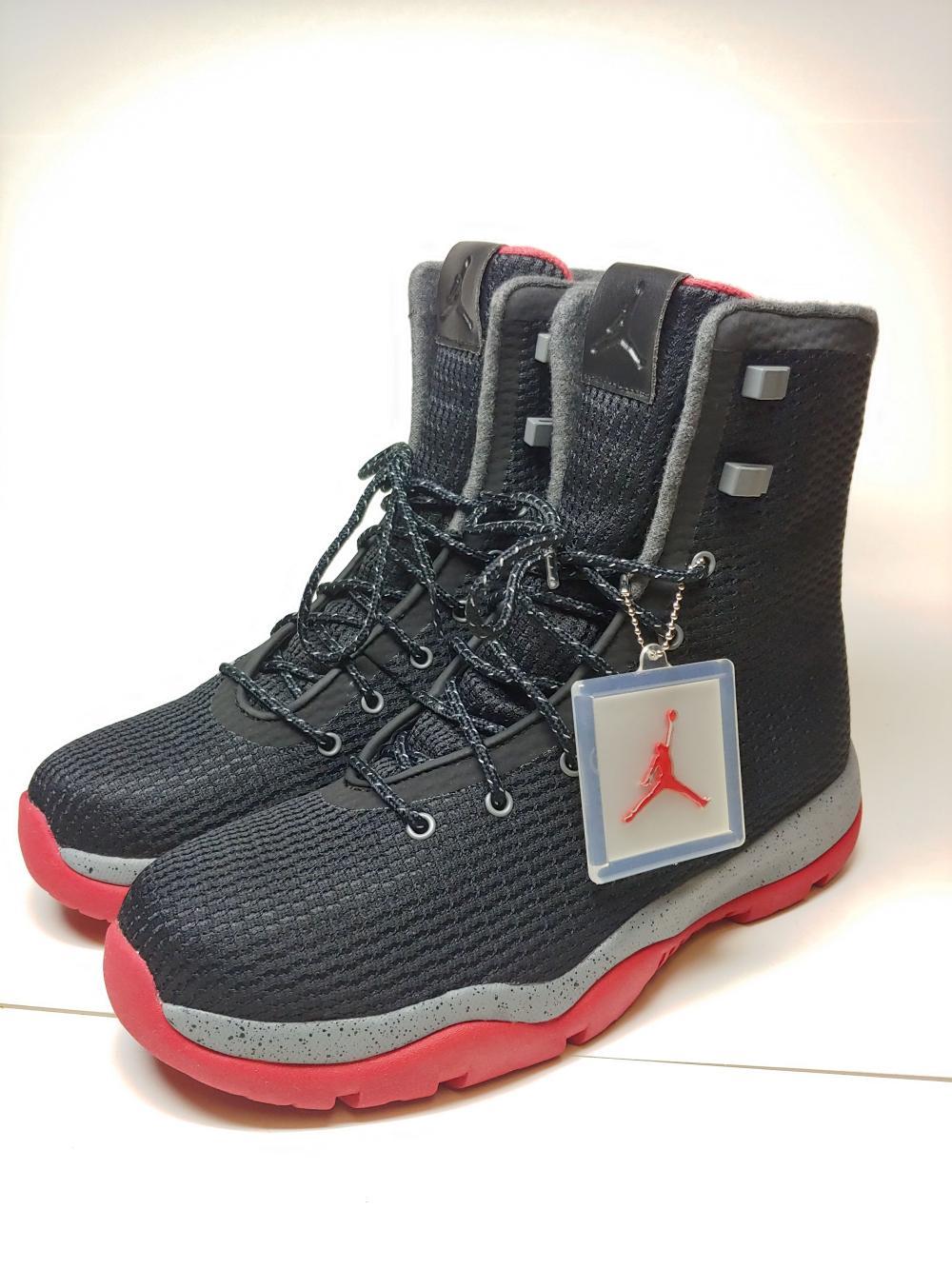 brand new e9777 9af5f Lot 1681  Brand New Mens NIke Air Jordan Future Boot Waterproof Black Cool  Grey Gym