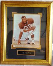 JIM BROWN FRAMED PICTURE