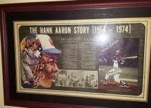 HANK AARON FRAMED PICTURE