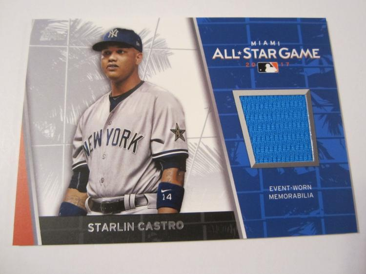 hot sale online 8e544 c522b Starlin Castro, New York Yankees piece of workout worn ...