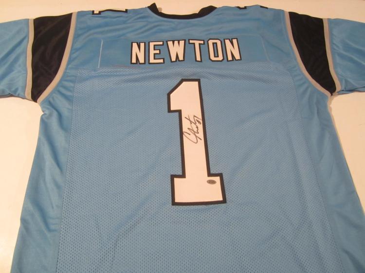 Cam newton signed jersey Home furniture newton nj