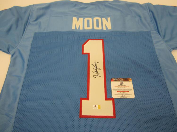 quality design 01084 979ad Warren Moon Houston Oilers signed autographed Jersey Global Coa
