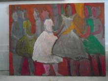PAUL EDELSTEIN OIL PAINTING ON CANVAS