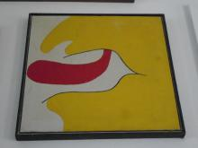 FRAMED VINTAGE ACRYLIC OF FACE & TONGUE