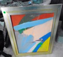 FRAMED ABSTRACT ACRYLIC PAINTING BY MARILYN CALIFF