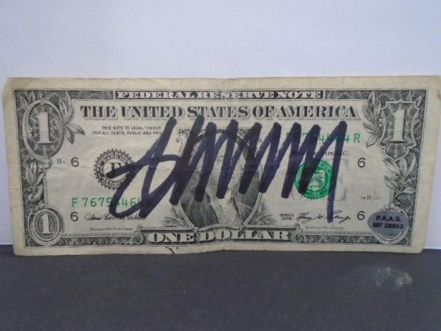 executive office chair donald signed dollar bill 28852