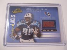 2001 Playoff Absolute Leather and Laces Jevon Kearse Game Used Football #647/825 Titans