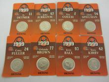 Complete Set of 8 x 1999 Cleveland Browns Collectible Coins MOC