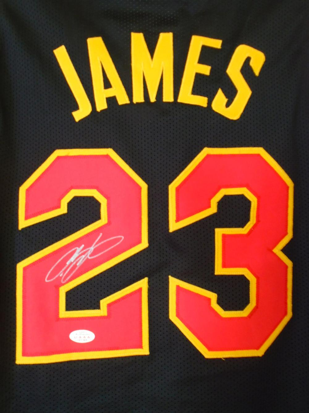 differently 235be 24ae0 LeBron James signed Cleveland Cavaliers Jersey