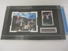 MICK JAGGER, KEITH RICHARDS, CHARLIE WATTS & RONNIE WOOD Signed Autographed Rolling Stones Photo Framed & Matted Certified CoA