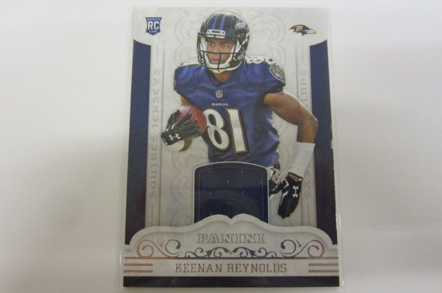 sale retailer 180fc 8063c Keenan Reynolds Baltimore Ravens Piece of Game Used Jersey Card
