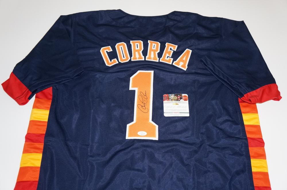 new style 9213a 3b983 Carlos Correa, World Series Champion Houston Astros signed ...