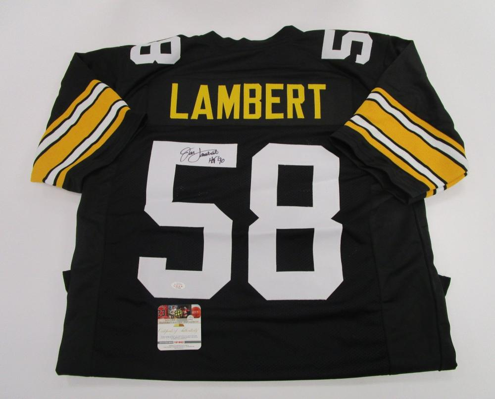 693c86f0cd3 Lot 1195: Jack Lambert, Pittsburgh Steelers Middle Linebacker, NFL Hall of  Fame, Autographed Jersey w COA