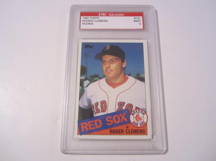 1985 Topps Roger Clemens Rookie Boston Redsox Mint 9 Graded Card