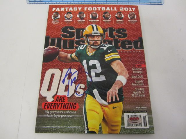 AARON RODGERS GB Packers Signed Autographed Sports Illustrated Magazine Certified CoA