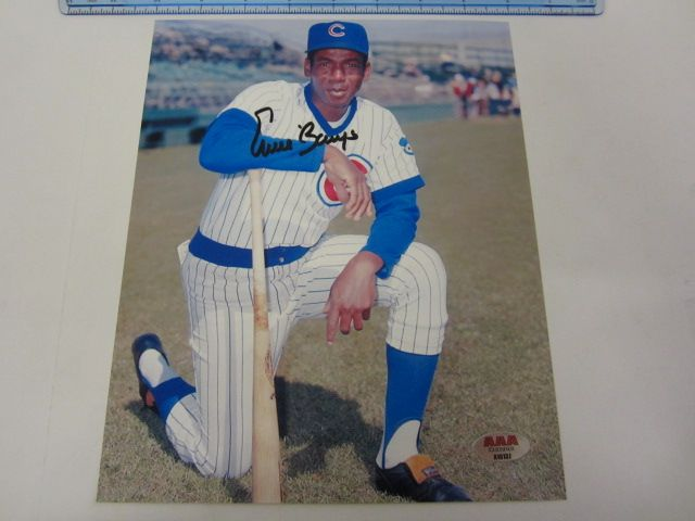 ERNIE BANKS Chicago Cubs Signed Autographed 8x10 Photo Certified CoA