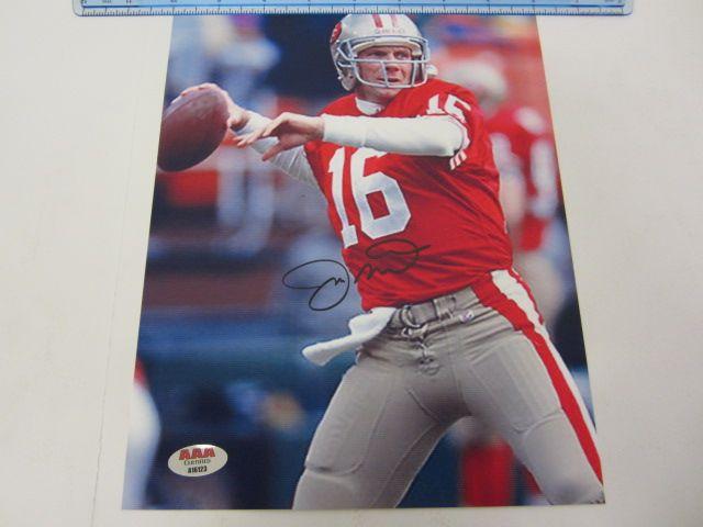 JOE MONTANA San Francisco 49ers Signed Autographed 8x10 Photo Certified CoA