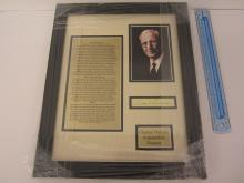 CHARLES DURYEA Signed Autographed Cut Matted & Framed + Article & Photo Certified CoA