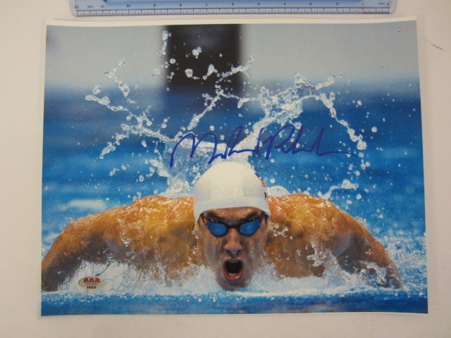 MICHAEL PHELPS Signed Autographed 11x14 Photo Certified CoA