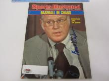 BOWIE KUHN (HOF MLB Commissioner) Signed Autographed Sports Illustrated Magazine Certified CoA