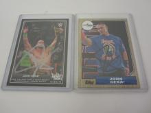 2 x JOHN CENA Signed Autographed WWE Wrestling Trading Cards Certified CoA