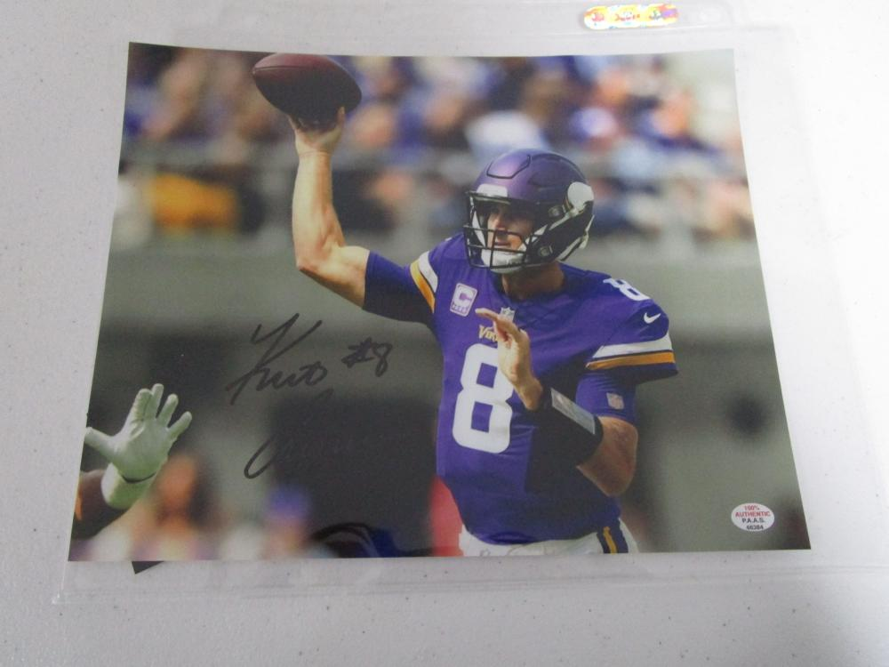 buy online 0663c c08b8 Kirk Cousins of the Minnesota Vikings autographed 8x10 photo ...