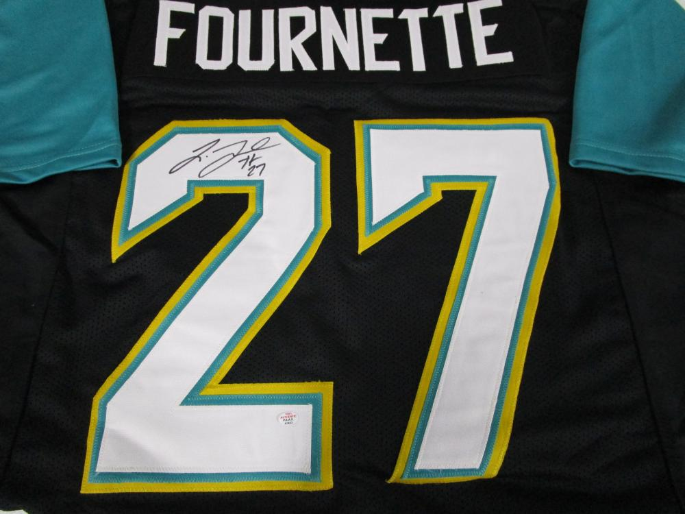 promo code 85cea f8b74 Leonard Fournette of the Jacksonville Jaguars signed black ...