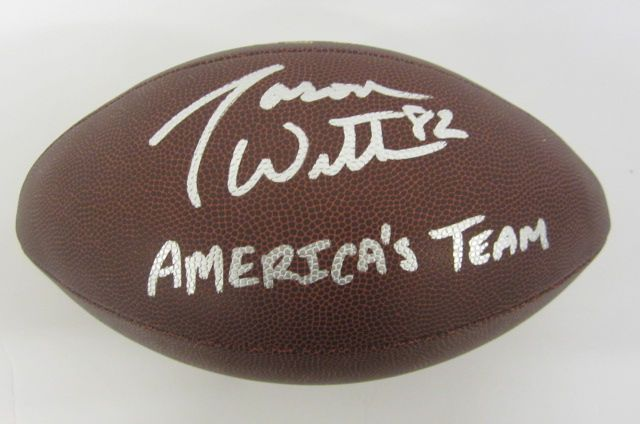 size 40 0ae08 37259 Jason Witten Dallas Cowboys signed autographed football PAAS Coa