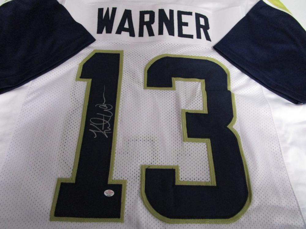 best website 0f725 36bc8 Kurt Warner of the St Louis Rams signed autographed white ...
