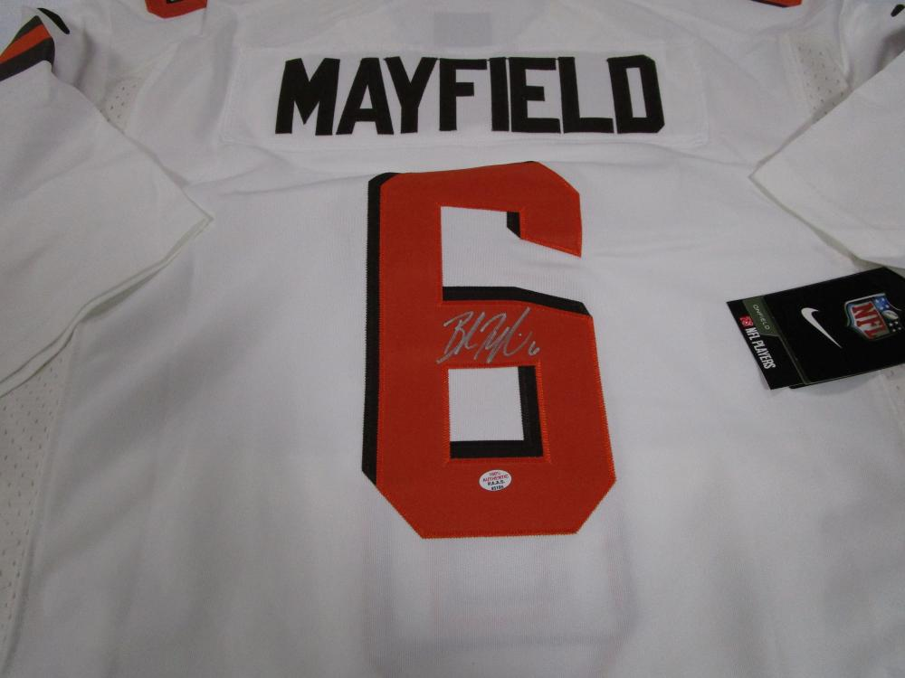 first rate ee4e1 a3fe2 Baker Mayfield of the Cleveland Browns signed autographed ...