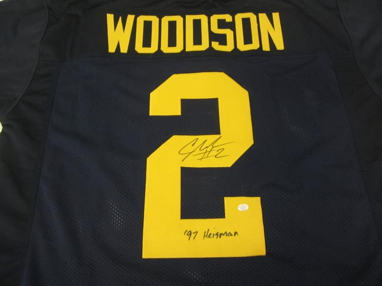 Charles Woodson Oakland Raiders Signed Autographed Football Jersey Certified Coa