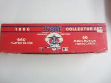 Score 1988 Collectors Set Premier Edition MLB 660 Player Cards 56 Magic Motion Trivia Cards Factory Wrap