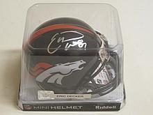 Eric Decker Signed Mini Helmet