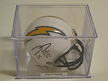 Phillip Rivers Signed Mini Helmet