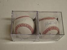 2 Mark Texiera Signed Baseballs