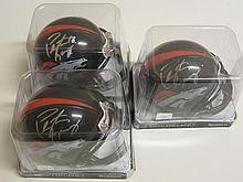 3 Peyton Manning Signed Helmets