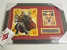Stan Lee Signed Photo Display