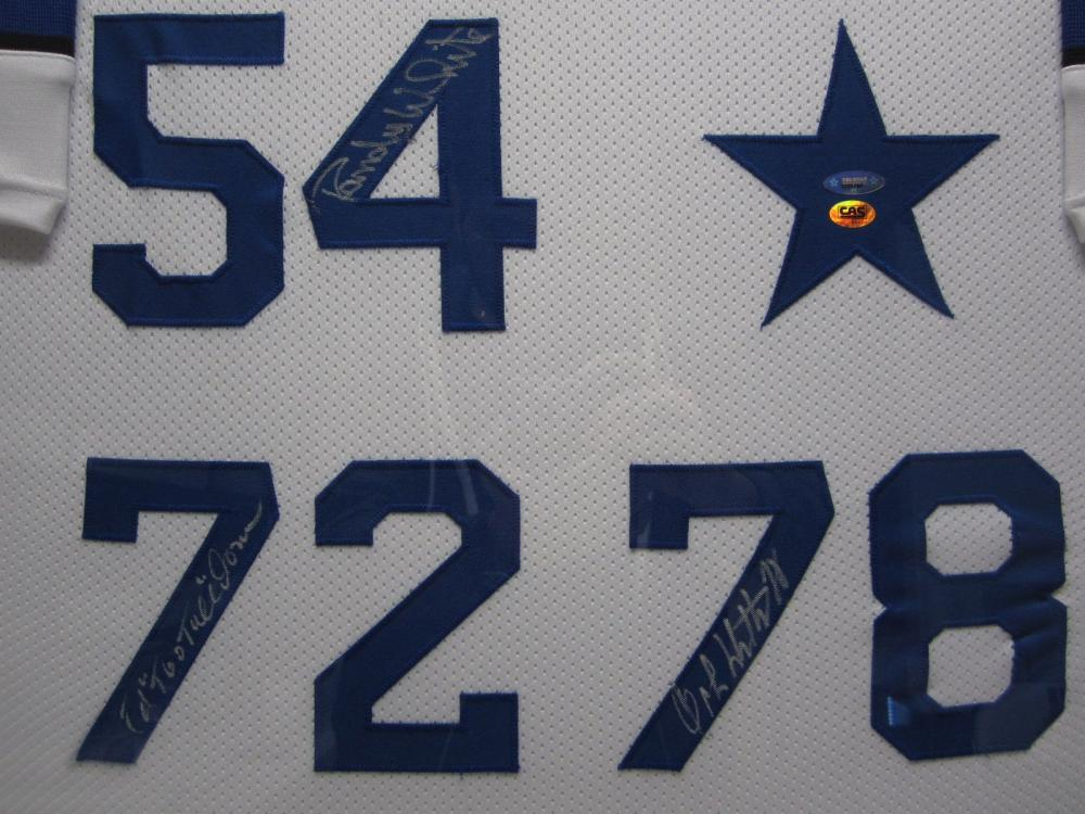 pretty nice 65a72 2a3a2 Dallas Cowboys Doomsday Hand Signed Autographed Jersey Ed ...