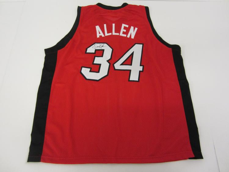 huge discount 5fac0 10acf RAY ALLEN Miami Heat Signed Autographed Basketball Jersey ...