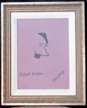 Framed Sketch of Adolf Hitler By Wayne Gacy