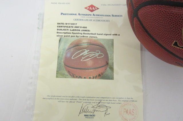 best website a80d1 87455 LeBron James Cleveland Cavaliers signed autographed ...