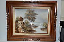 Vintage Artist Signed Oil Painting