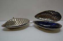 Set of 2 Vintage Caviar Servers